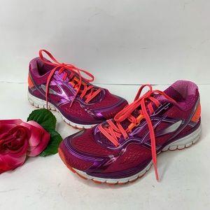 Brooks Womens Sz 8.5 Neon Hot Pink Tennis Shoes